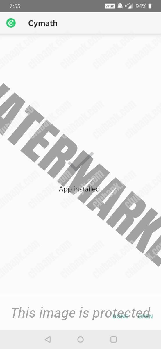 cymath app installed